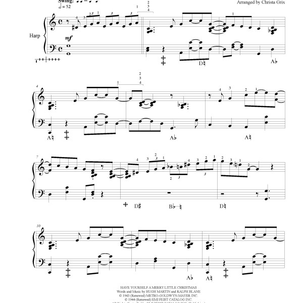 Have Yourself A Merry Little Christmas, Sheet Music