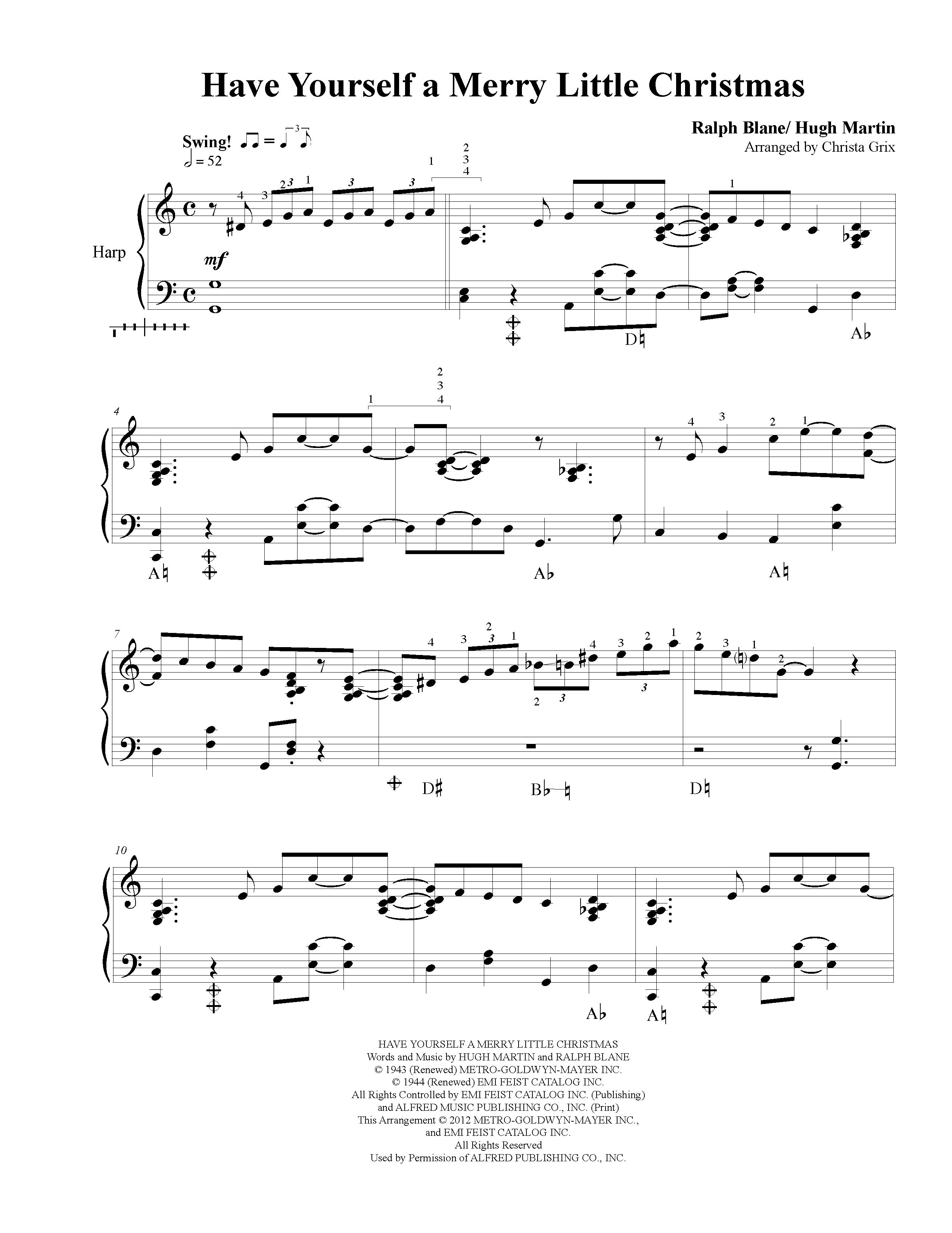 have yourself a merry little christmas sheet music - Have Yourself A Merry Little Christmas