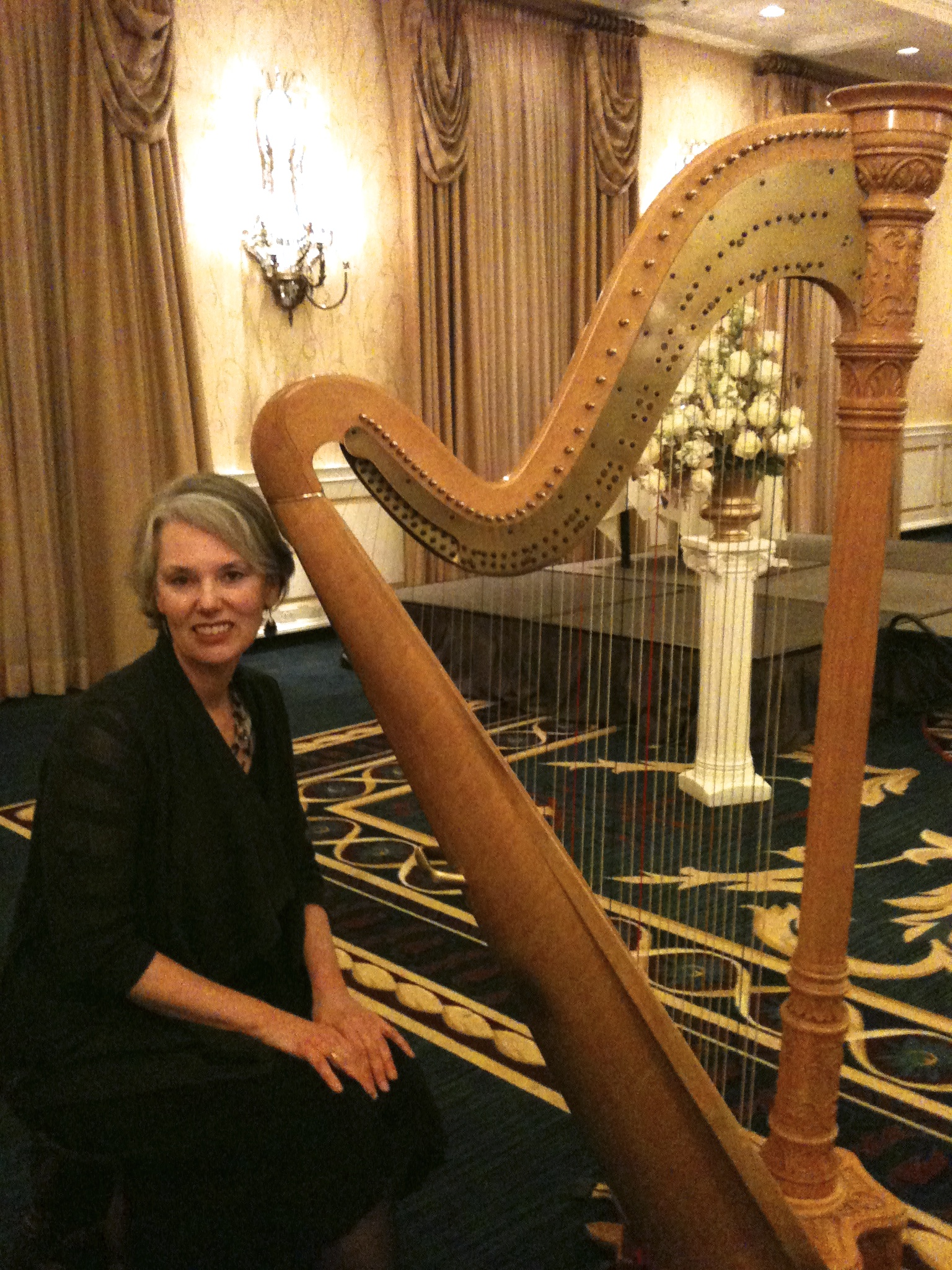 The harp is tuned, and I'm ready for the wedding.